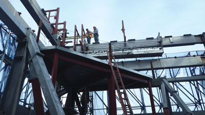 scaffolding and suspension