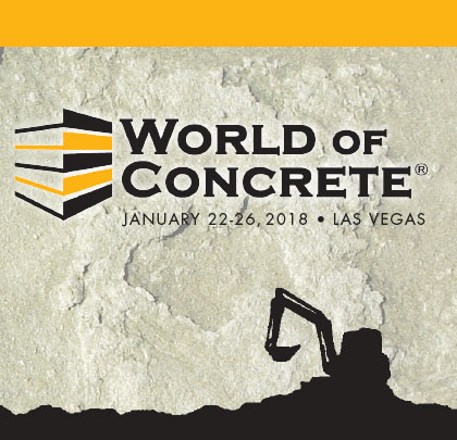 Click Here To View A PDF of the 2018 WORLD OF CONCRETE EXHIBITOR SHOWCASE